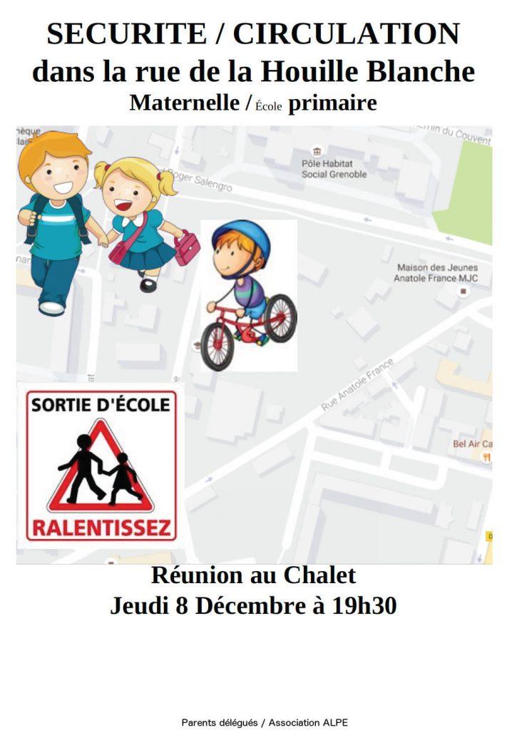 Sécurité et circulation rue de la Houille Blanche